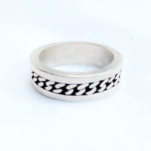 Vintage Heavy Quality Sterling Silver Men's Ring